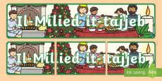 Happy Christmas Display Banner (Maltese)