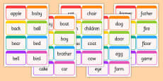Dolch Word Flashcards Nouns