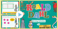 Roald Dahl Themed Year 1 Morning Actvities PowerPoint English Medium