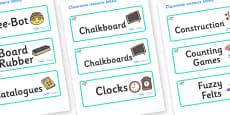 Raccoon Themed Editable Additional Classroom Resource Labels