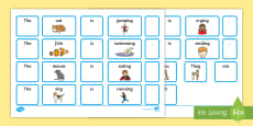 EAL Sentence Builder Cards with Verbs