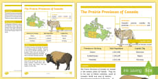 The Prairie Provinces of Canada Fact File