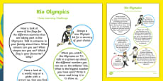 EYFS Rio Olympics Games Home Learning Challenge Sheet Reception FS2