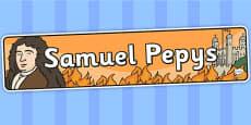 Samuel Pepys Display Banner