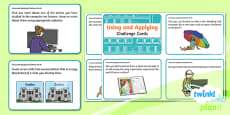 Y2 PlanIt Computing: Using and Applying Skills Challenge Cards