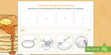 Pancake Recipe Sequencing Activity