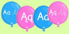 Balloons Alphabet A-Z Polish
