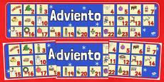 Advent Christmas Display Banner Spanish