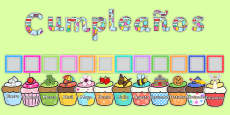 Birthday Graph Display Pack Spanish