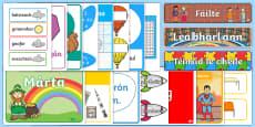 Classroom Essentials Display Pack Gaeilge