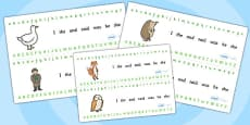 Alphabet Strips to Support Teaching on Percy the Park Keeper
