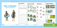 Year 6 Summer English Activity Booklet