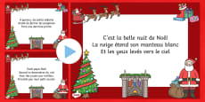 T'was the Night Christmas Poem PowerPoint French