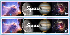 Space Photo Display Banner