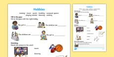 Hobbies Activity Sheet