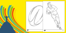 Rio 2016 Olympics Rugby Colouring Sheets