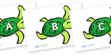 A-Z Alphabet on Turtles