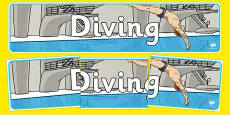 The Olympics Diving Display Banner