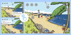 KS1 Beach Habitat Picture Hotspots