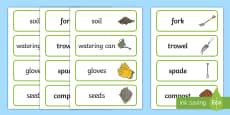 Gardening Word Cards