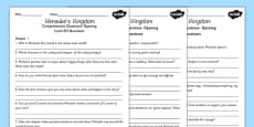 Kensuke's Kingdom Differentiated Reading Comprehension Activity
