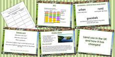 United Kingdom Land Use Lesson Teaching Pack