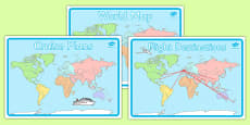 World Map Display Posters