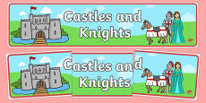 Castles & Knights Display Banner