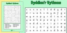 Days of the Week Word Search Cymraeg