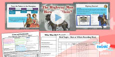 PlanIt - History LKS2 - Crime and Punishment Lesson 4: Highway Man Hero or Villain Lesson Pack
