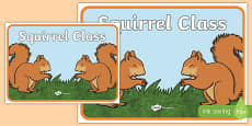 Squirrel Class Display Poster
