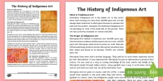 Traditional Aboriginal Art Fact Sheet