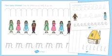 Australia - Beauty and the Beast Pencil Control Sheets