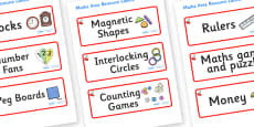 Cherry Themed Editable Maths Area Resource Labels