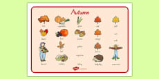 Autumn Word Mat