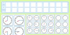 Visual Timetable Display With Clocks