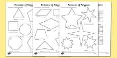 Perimeter of Polygons Activity Sheets