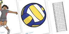 The Olympics Editable Images Volleyball