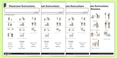 French Classroom Instructions Activity Sheet