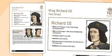Richard III Fact Sheet