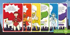 Bloom's Taxonomy - Meet the Bloom Superheroes Display Posters