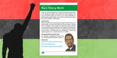 Elderly Care Calendar Planning October 2016 Black History Month