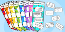 Level 5 Maths Assessment Bookmarks and Target Cut-Outs