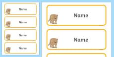 Puma Themed Editable Drawer-Peg-Name Labels (Blank)
