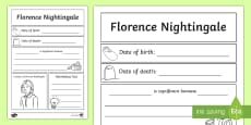 Florence Nightingale Significant Individual Writing Frame