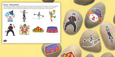 Circus Story Stone Image Cut Outs
