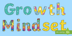 Growth Mindset Display Lettering