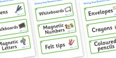Elder Tree Themed Editable Writing Area Resource Labels