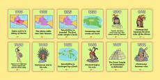 Aztec Timeline Cards