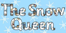 The Snow Queen Display Lettering